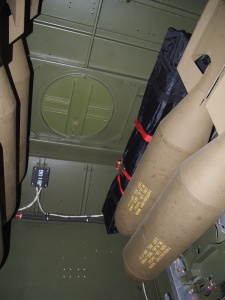 Picture 4 - View of the top of the bomb bay of a B-25 where Minneapolis mechanics installed 225 gallon fuel tank.