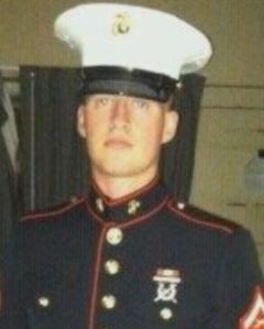 Marine Lance Cpl. Dale Means.