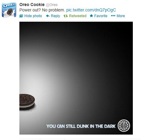 Oreos Super Bowl Tweet 2