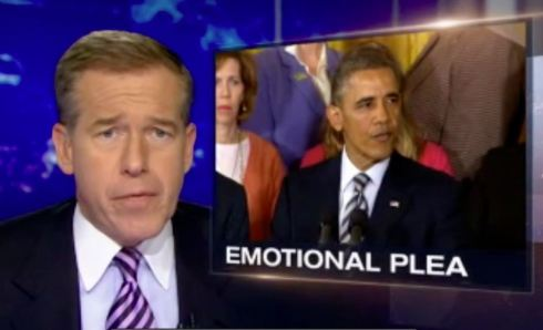 President Obama's gun safety push presented as the lede story on the NBC Nightly News on March 28, 2013