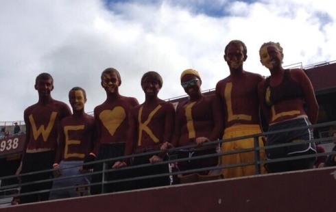 Student support for Coach Jerry Kill at the Sept. 21st, 2013 home game. (Courtesy @Gophersports Twitter)