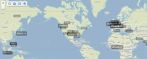 Figure 3 - Global Trendsmap of #Batkid.