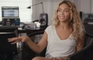 "Screen grab from Beyoncé explaining her new ""Visual Album."""