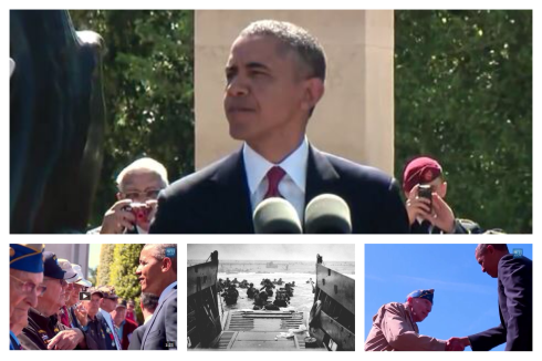 Obama D-Day Collage